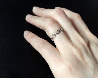 DNA Ring - sterlin silver