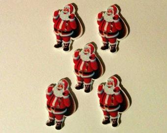 5 Santa Button-Christmas Button - Christmas Craft Button - #C-00047