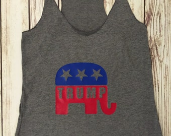 Trump Inspired Elephant Tank Top
