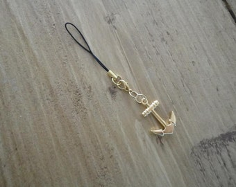 "Charm ""gold anchor"""