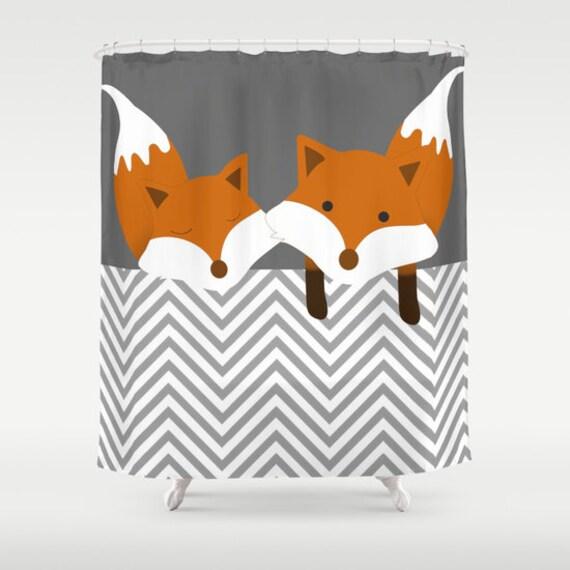 rideau de douche renard personnalis couleur mignon nature animaux woodland cadeaux boyfriend drle enfants ados - Rideau De Douche Color