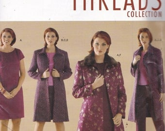 Simplicity 4408 Vintage Pattern Womens  Lined Coat, Dress, Pants, Skirt and Top Size 18,20,22,24 UNCUT