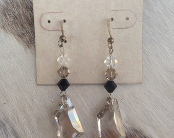 Pearl and Swarovski Crystal Earrings