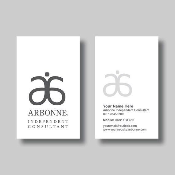 Arbonne Business Card Simplicity White Digital Design