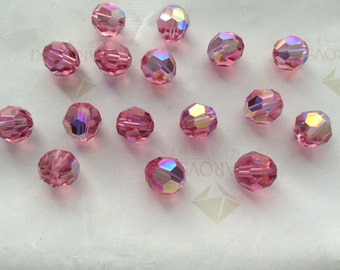 Swarovski #5000 Crystal Rose AB Round Ball Faceted Beads 5mm 8mm 10mm