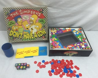 Simpsons Don't Have A Cow Dice Game 1990