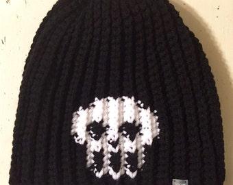 Skull beanie // skull hat // crochet beanie // mens womens // custom skull beanie hat // skull // Halloween beanie hat // crochet beanie