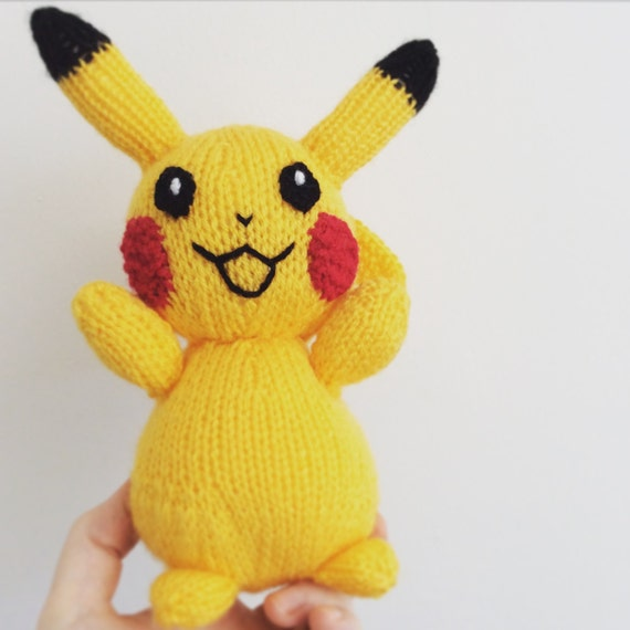 Knitted Pikachu Pattern : pikachu knitting pattern pokemon doll amigurumi pattern pdf