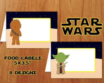 Star Wars Food Tent Cards