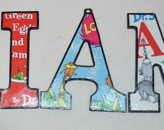 Dr. Suess Green Eggs n Ham Inspired Wood Letters