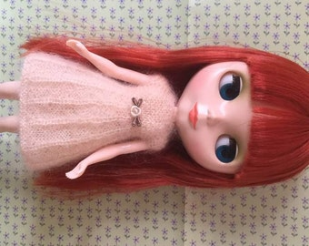 Hand Knitted Mohair Dress for Blythe