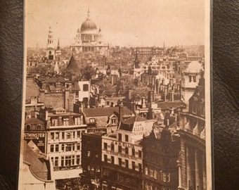 Vintage Postcard - London, The Strand & St. Paul's Cathedral. Excellent Condition!