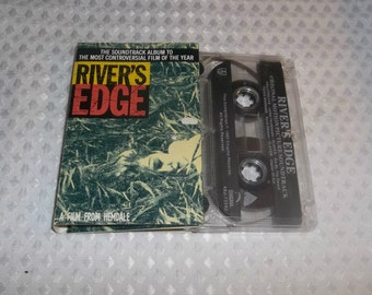 RIVER'S EDGE Soundtrack Cassette Tape SLAYER Crispin Glover Keanu Reeves 1987 Hallows Eve Fates Warning Agent Orange Wipers