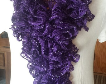Ruffle Scarf -Purple