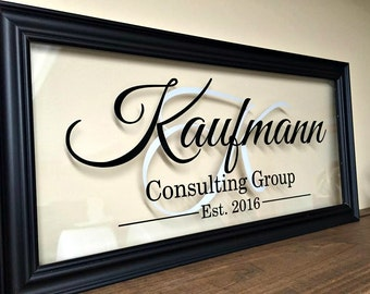 Commercial Business Sign, Custom Logo, Custom Business Sign, Office Sign, Business Sign, Glass Frame, Business Gifts, 10X20 B100