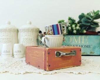 Vintage wood box - handmade
