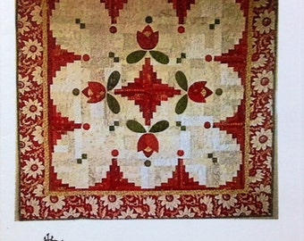 "CABIN FEVER Applique and Pieced Quilt Pattern-Log Cabin 54"" x 54"" Jililly Studio"