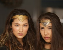 FULL DETAIL-Dawn Of Justice Inspired Tiara Crown Wonder Woman Smooth or Textured styles