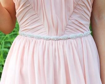 Crystal Rhinestone Belt Bridesmaid belt Thin bridal belt Bridesmaid Belts and Sashes Bridesmaid sash  Crystal Sash Belt Wedding dress belt