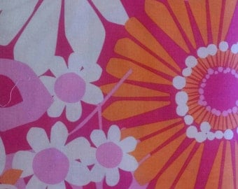 100% Cotton - Michael Miller MOD Ruth Ann - Pink and Orange Floral - Quilting Cotton - Fabric by the Yard - Large Print Floral
