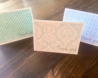Thank You Cards - Set of 6 (Blue)