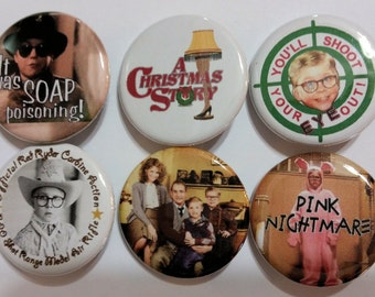 A Christmas Story Badge Button Pin Set of 6