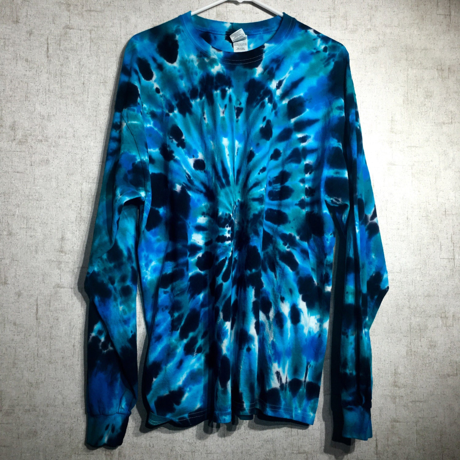 Custom made to order tie dye shirt black blue tie dye for Customized tie dye shirts