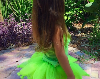 Fairy tutu, fairy costume, birthday tutu, green tutu, photo prop, tinkerbell tutu, Halloween tutu