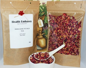 Rose Petals Tea 50g - Health Embassy - Organic