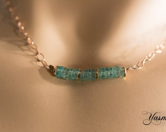 Apatite rose gold plated