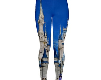 Cinderella Castle Inspired Leggings