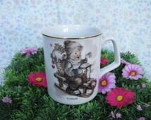 Hummel Mug - MJ Hummel - Vintage Hummel - Hummel Porcelain - Hummel Figurine - Christmas Mug - Vintage Christmas - German Porcelain
