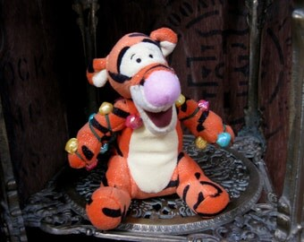 Christmas Tigger, Winnie The Pooh, Vintage Disney, Disney Store, Disney Christmas, AA Milne, Tigger Cuddly, Tigger Plushie, Disney Toy