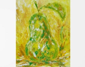 Fruit art Kitchen art Kitchen wall art Yellow art Yellow wall art Kitchen print Fruit print Yellow print Fine art print Yellow art print Art