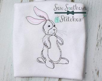 Sketch Velveteen Rabbit Embroidery Design ~  Easter Bunny Design ~ Instant Download