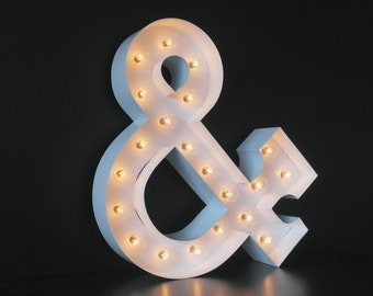 Marquee Light Symbol - Ampersand >> Home Decor, Initials, Wedding, Engagement, Gift
