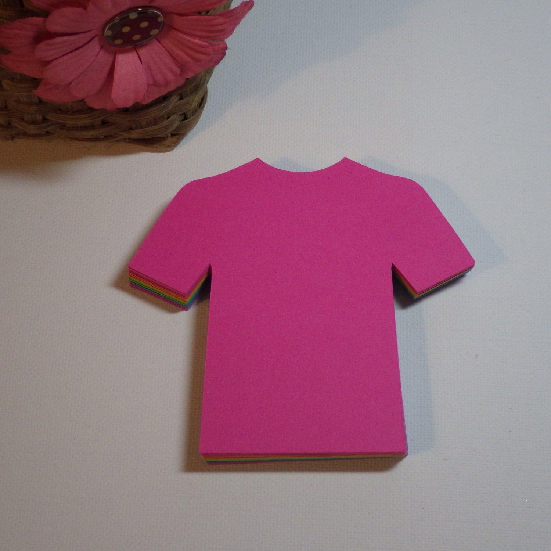 Shirt die cuts t shirt die cuts bright colors 450 pc for Be creative or die shirt