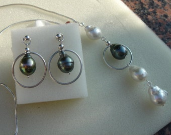 925 Silver necklace with genuine South Sea pearls! Very valuable!