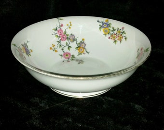 "J.P.L. Limoges France Bowl, Rheims Pattern 9"" Vegetable Bowl by Jean Pouyat, JP over L Porcelain, Antique Serving Bowl, China Replacements"