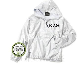 Kappa Alpha Theta Pullover, Monogram Wind Breaker Pullover, Rain Jacket Pullover, Charles River Pullover, Sorority Gift, Theta