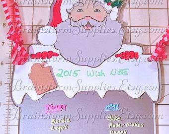 Christmas Wish List Wall Display Sign. Acrylic Blank Un-decorated DIY Christmas Wish List Hanger. Great For Vinyl Decorating!