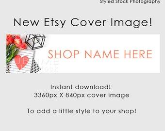 Etsy Cover Photo / Etsy Cover Image / Premade Etsy Banner / Premade Cover Photo / Shop Banner / Cover Image / Stock Photo / Style-101