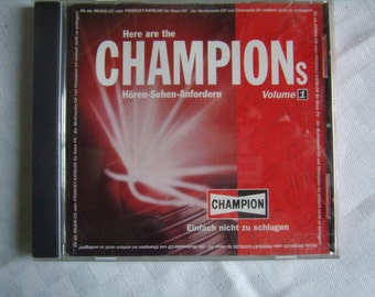 "Vintage CD Publicitaire ""Champion"", 10 titres, ""We are the Champions"",Mercury, Rare"