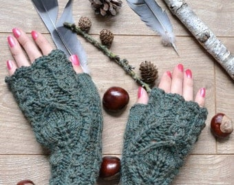 knit fingerless gloves birthday gift|for|her arm warmers wool gloves christmas gifts outlander gloves wrist warmers unique gloves cable knit