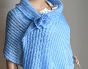 Knitted women's shawl