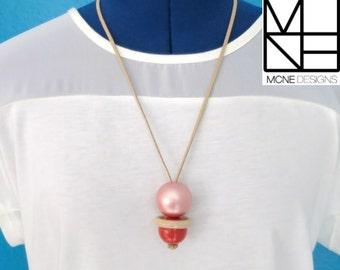 "Fiddle Necklace ""Playful"" - Nature Mama. One of a kind piece."