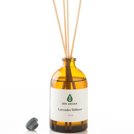Aroma Diffuser Bottle ~ Sen aroma lavender reed diffuser ml in amber glass bottle