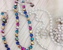 "New""Celebration Swarovski Necklace""Vivid Colors,Premuim Genuine Swarovski Crystals,Designer Quality,Eye-Catching,Show Stopper!"