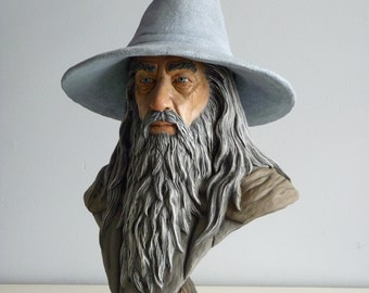 Gandalf bust inspired, lord of the rings , the hobbit, LOTR, Tolkien, mage , magic, sculpture, fantasy, wizard