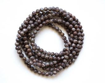 Dark Brown Double Wrap Necklace